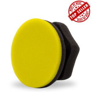 Adams Yellow Hex-Grip Car Wax Applicator